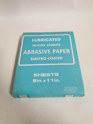 Lubricated Silicon Carbide Abrasive Paper Elect Coated 9×11 180C Grit 100 Sheets