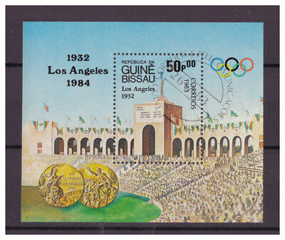 Guinea-Bissau Olympische Sommerspiele Los Angeles MiNr. 697 Block 252, 1988 used