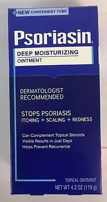 Psoriasin Multi-Symptom Psoriasis Relief Ointment 4 oz  (Pack Of 3 Jars).