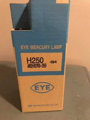 Iwasaki H250 Eye Mercury Lamp Bulbs 250 Watt E39/41 250W H37Kb-250
