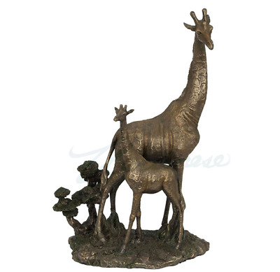 Giraffe And Calf Figure Statue Sculpture  - HOME DECOR
