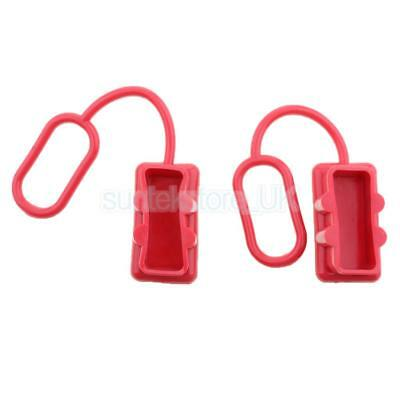Red Rubber 2Pcs//Set Plug Dust Cover End Cap For SB 175 AMP Connector for Ander