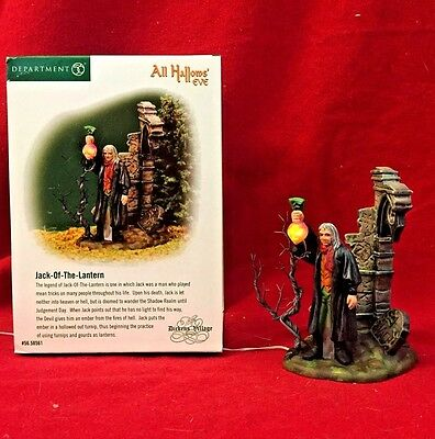 All Hallows Eve Jack of the Lantern Dept 56 Dickens Village 58561 Halloween
