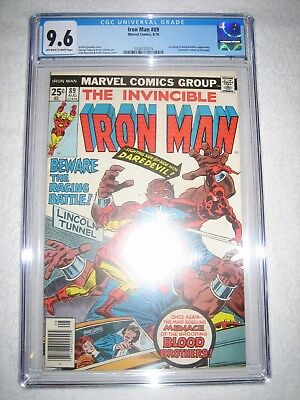 Iron Man # 89 Cgc 9.6 Ow/wh - Daredevil And Blood Brothers Appearance! Netflix!