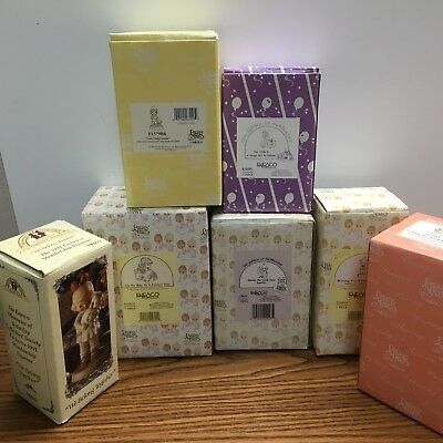 Precious Moments Lot of 6 New In Box And 1 Memories of Yesterday  LOT 112