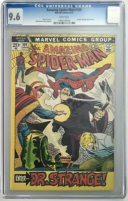 Amazing Spider-Man #109 1972 Doctor Strange CGC Graded 9.6 White Pages