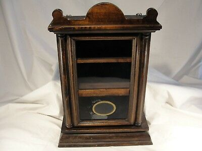 Antique Clock Case Curio Cabinet Conversion Clever Walnut Tabletop or Wall Hung