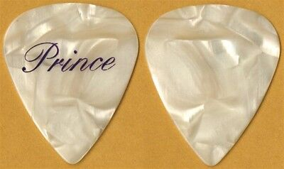 Prince authentic 2006 concert tour purple on pearl stage collectible Guitar Pick