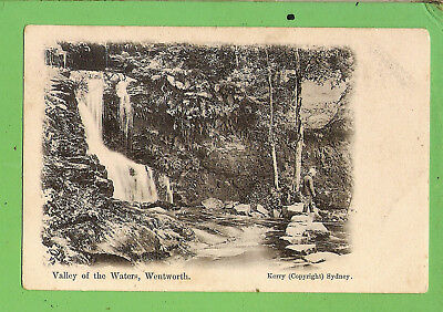 #f.  Postcard - The Valley Of The Waters, Wentworth Falls, Nsw