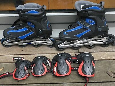 INLINE SKATES - size 9 with Elbow and Knee pads