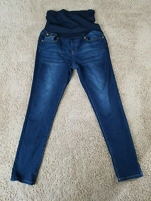 What's Kickin' Maternity Womens Dark Wash Skinny Denim Jeans Size M