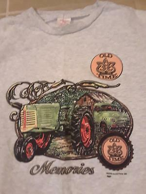 Farm Tractor Vintage Truck Old Time Memories Mens T-Shirt Xl