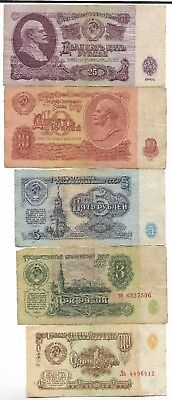 Rare Very Old CCCP Cold War Vintage Russian Rubles Dollar LENIN Note Collection