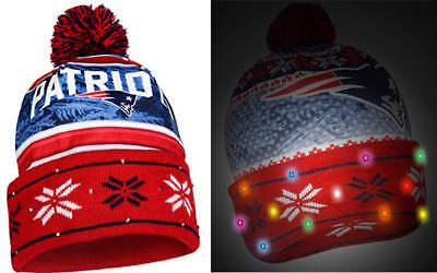 829c3beb738 ... wholesale officially licensed nfl light up led beanie hat new england  patriots 40e0a f5f8b ...