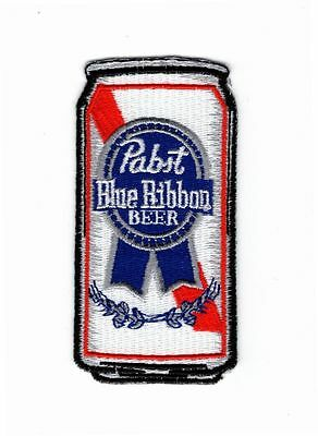 PABST Blue Ribbon Beer EMBROIDERED MORALE HOOK FASTENER PATCH