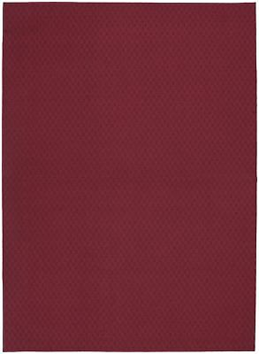 Garland Rug Town Square Area Rug, 7-Feet 6-Inch by 9-Feet 6-Inch, Chili Red New