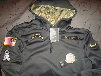 50fa74d8016 Nike Chargers Nfl Salute To Service Hoodie 2Xl M Men New $$$$
