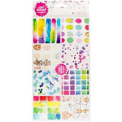 Jane Davenport Collage Papers Shapes Drawings Swatches 32 pcs