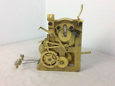 Antique 4 Bell Sonora Chime Mantel Clock Movement, Parts / Repairs