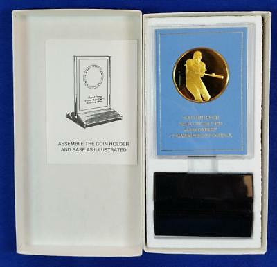 """Pete Rose Gold Plated/Sterling Silver """"Base Hit"""" Medal .80ozt w/original package"""