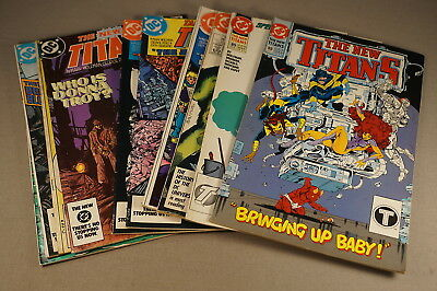 1980's - 1990's The Teen Titans Comic Book Group Lot Of 10 Comics (Inv. 052)