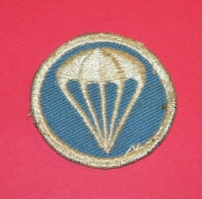 """salty"" Original Twill Ww2 Airborne Paratrooper Infantry Cap Patch"