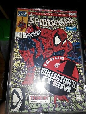 1990 Spider-Man #1 Poly Bagged Collectors Edition & Silver Cover (Nm+) Lot Of 2