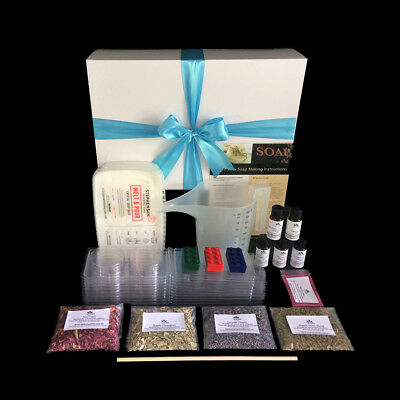 NEW Gift Boxed Soap Making Kit for beginners  - Makes 20+ Soaps