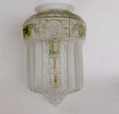 Art Deco Vintage Frosted Glass Skyscraper Ceiling Chandelier Light Cover Shade
