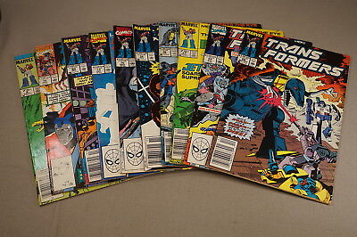 1980's Transformers Comic Book Group Lot Of 10 Comics (Inv. 008)