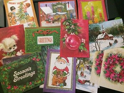Vintage Lot Of 23 Unused Mid Century Christmas Cards No Envelopes