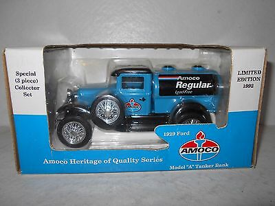 "Amoco Regular 1929 Ford Model ""A"" Tanker Bank - 1992 Diecast Bank - New"