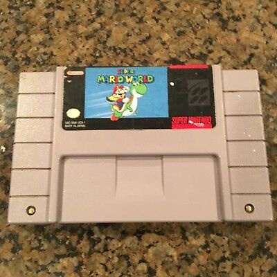 Super Mario World SUPER Nintendo SNES Game Tested