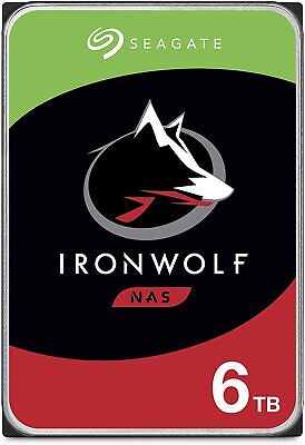 "NEW 6TB NAS HDD Seagate IronWolf 3.5"" SATA Internal Hard Drive 7200RPM 256MB"