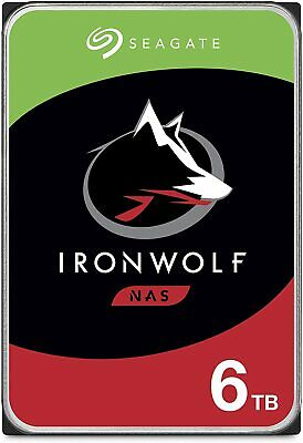 "Seagate IronWolf 6TB NAS HDD 3.5"" SATA Internal Hard Drive 7200RPM 256MB"