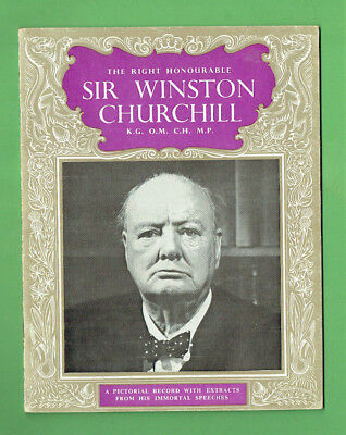 #D359. 1965 Tribute Booklet To Sir  Winston Churchill