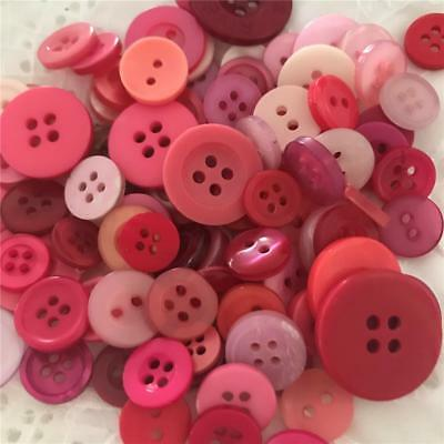 Pink Buttons Mixed Sizes & Styles x 100