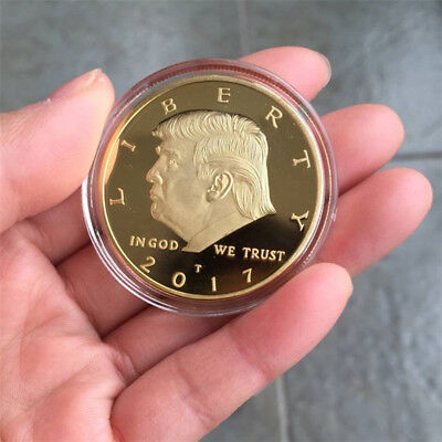Commemorative Coin President Donald Trump In God We Trust Golden Token Coin Gift