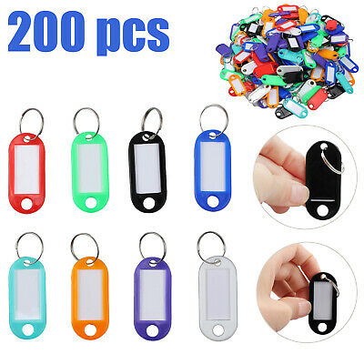 200 Key ID Labels Tags For Home Motel Company Facility with Key Ring Split Rings