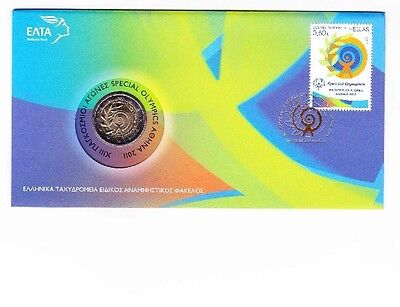 2 Euro Special Olympics 2011 Griechenland Numisbrief