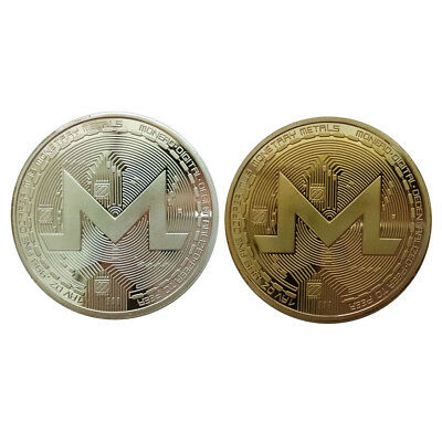 Gold Silver Monero Commemorative Round Collectors Coin Bit Coin Plated Coins