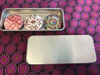 Quilt Dots - Magnet Tin with 3 different Magnets - Various Designs