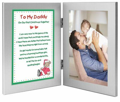 Father Christmas Gift - Christmas Poem From Baby to Daddy - Add Photo to Frame