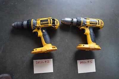 TWO (2) DEWALT DW988 18 Volt XRP 1/2-Inch Drill / Driver / Hammerdrill for parts