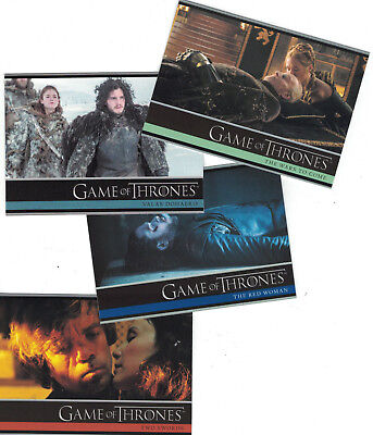 Game of Thrones Season 2+3+4+5+6 Trading Card Sets Lot (5 Basissets)