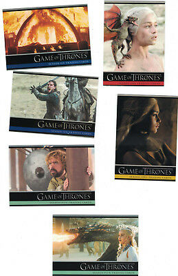 Game of Thrones Season 2+3+4+5+6 Trading Card Sets Lot (5 Basissets) + 6 Promos
