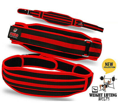 Weight Lifting Gym Fitness Neoprene Belt Back Support Exercise Belt - Black/Red