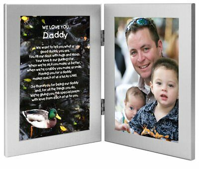 Gift for Daddy From Daughters and Sons - Poem in Double 4x6 Inch Frame - Add