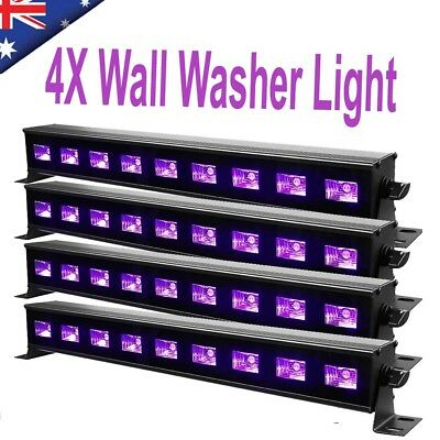 8X 27W Stage UV LED Blacklight Wall Washer Light Lamp RGB Stage Decor Party Bar