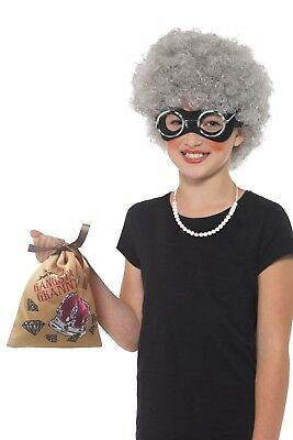 Childrens David Walliams Gangsta Granny Instant Fancy Dress Book Day Costume Kit